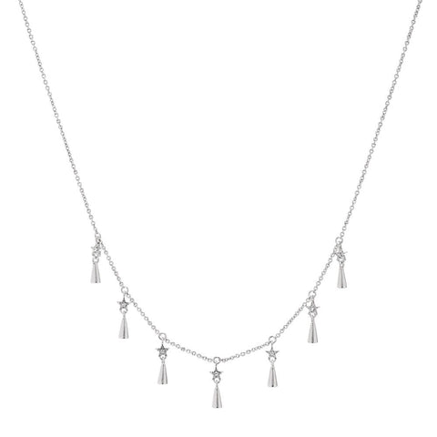 Celestial Shaker Necklace- Silver