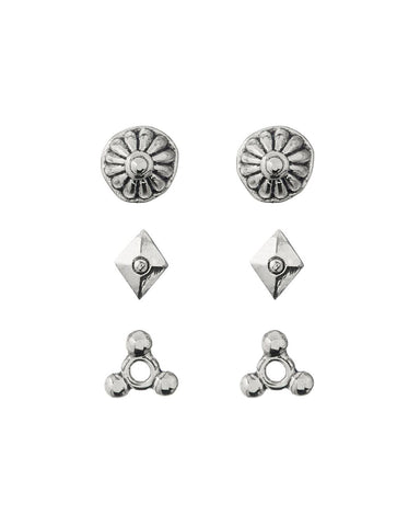 Marrakech Studs Set- Silver