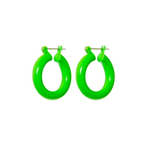Rainbow Baby Amalfi Hoops- Neon Green (Ships Mid March)