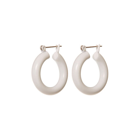 Rainbow Baby Amalfi Hoops- White