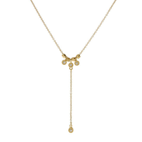 The Moroccan Stud Lariat- Gold