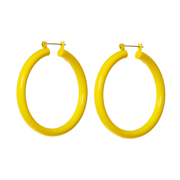 Rainbow Amalfi Hoops- Yellow