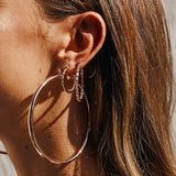 Verona Hoops- Rose Gold