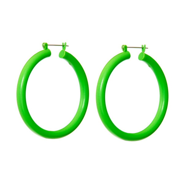Rainbow Amalfi Hoops- Neon Green (Ships Mid March)