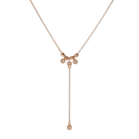 The Moroccan Stud Lariat- Rose Gold