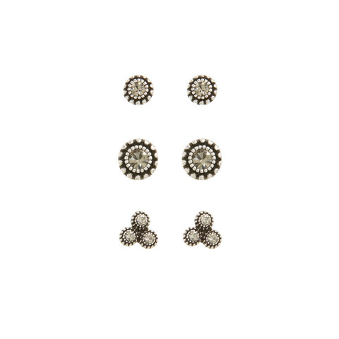 The Moroccan Studs Set- Silver