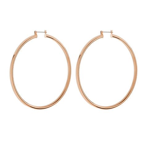 XL Amalfi Hoops- Rose Gold