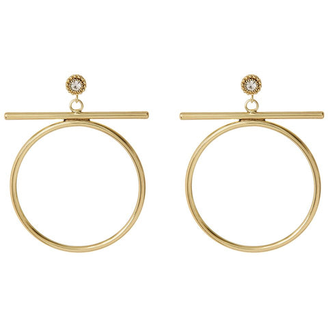 The Moroccan Stud Statement Hoops- Gold