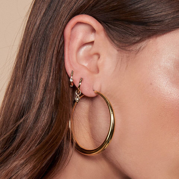 Lucca Hoops- Rose Gold