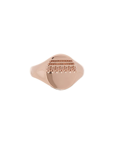 Marrakech Pinky Signet Ring- Rose Gold