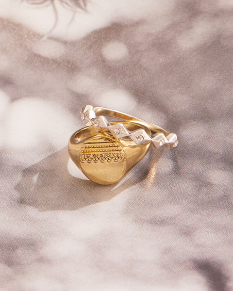 Marrakech Pinky Signet Ring- Gold