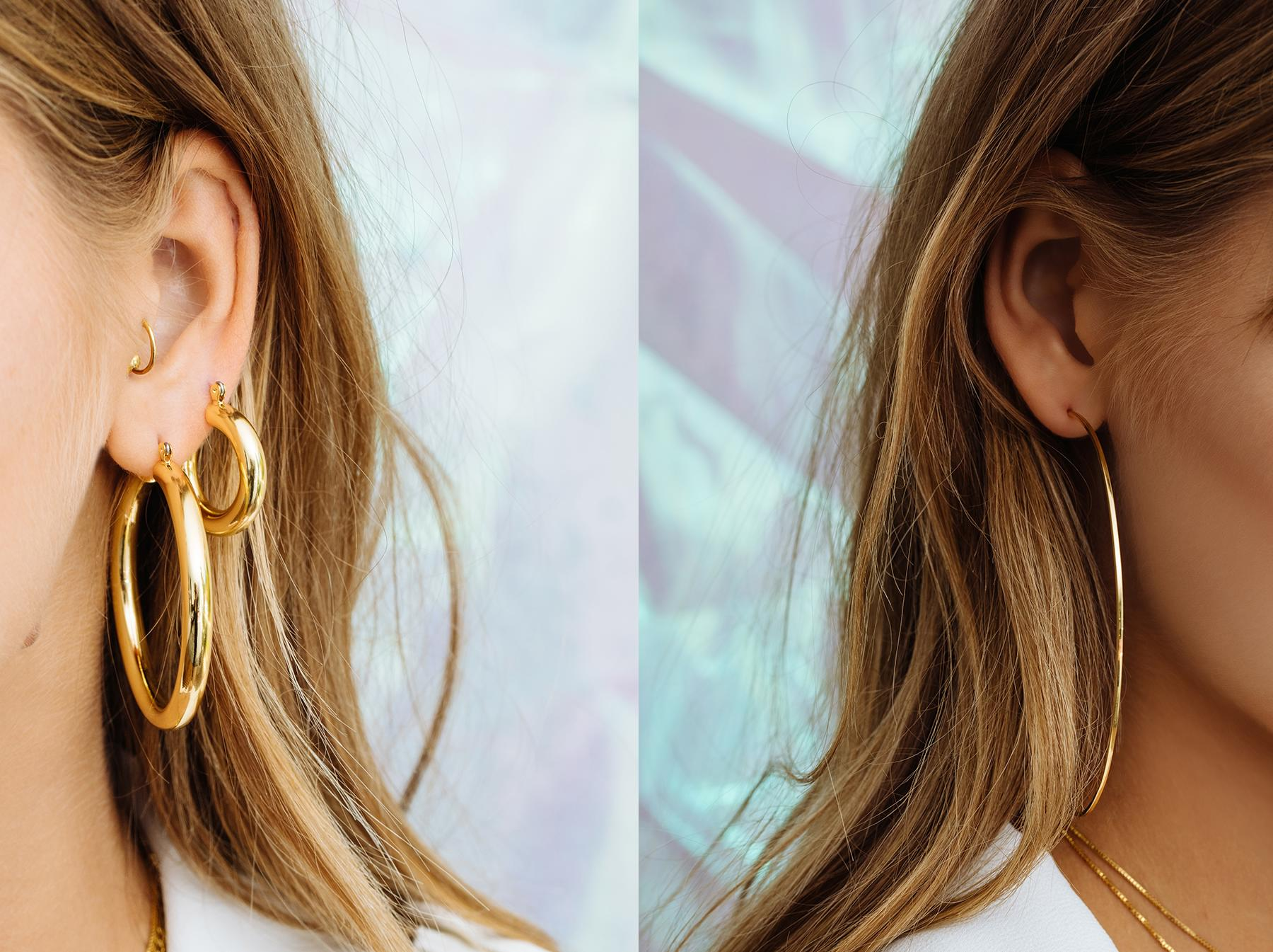 instagram earrings bridge earring gold and crescent aj x luv hoop hoops bec