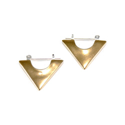 bronze triangle hoop earring from MGG Studio