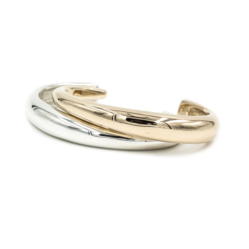 polished minimal cuff bracelets by MGG Studio handmade in California
