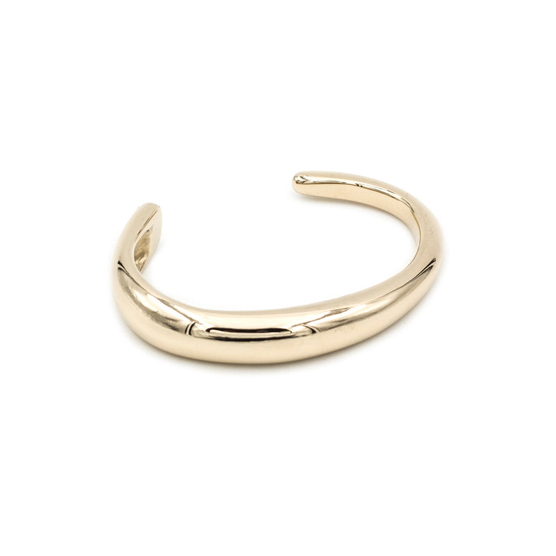 Golden bronze polished modern cuff bracelet from MGG Studio made in the Bay Area