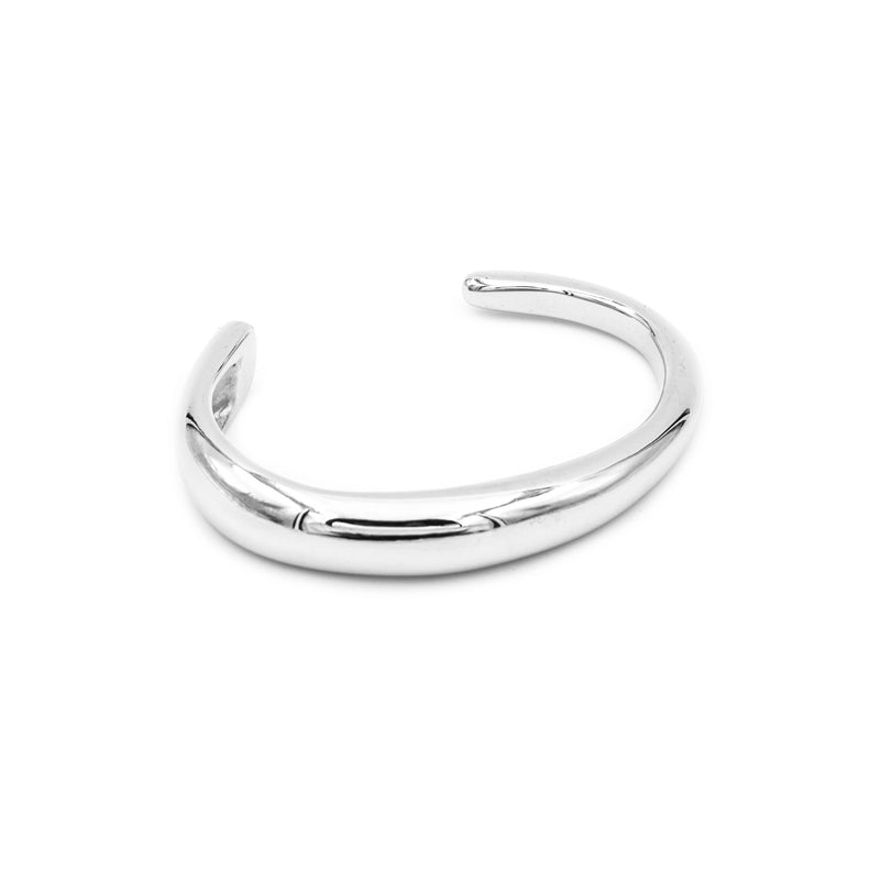 silver cuff bracelet by MGG Studio handmade in California