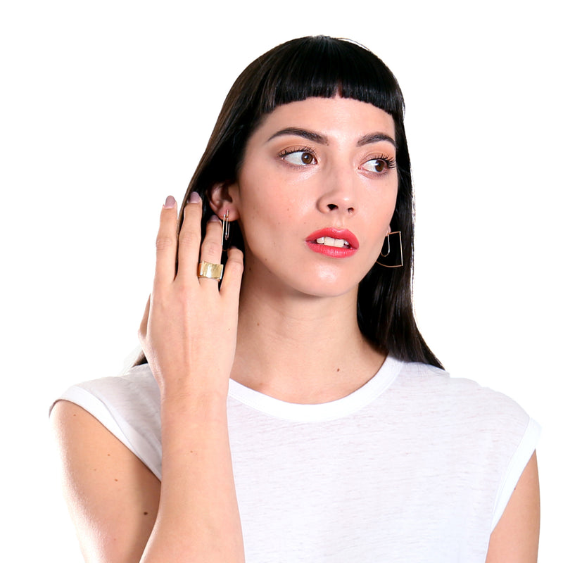 modern cocktail ring in golden bronze from MGG Studio