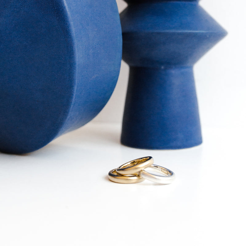 DEDO ring sculpture stack from MGG Studio