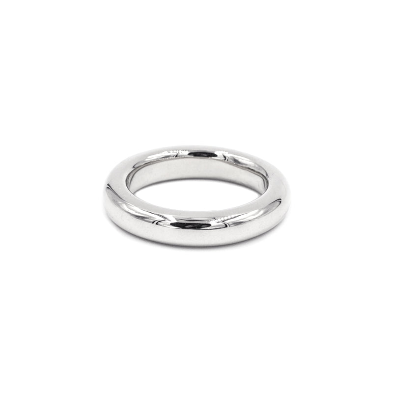 handmade polished silver thick band from MGG Studio