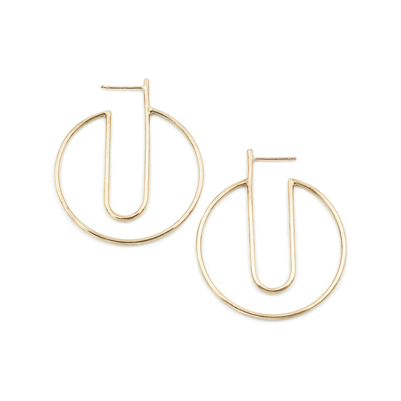 lightweight large circle hoops handmade in California by MGG Studio
