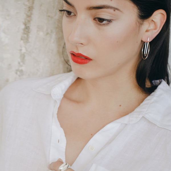everyday hoop earrings from MGG Studio handmade in California