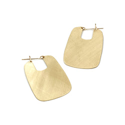 brushed finish brass rectangle hoops from MGG Studio