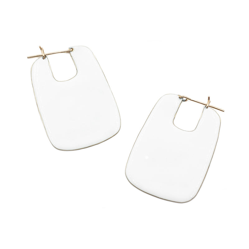 FAO rectangular hoops with resin accent