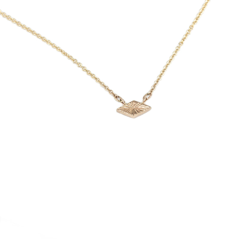 recycled 14k gold delicate GEMINI necklace handmade by MGG Studio