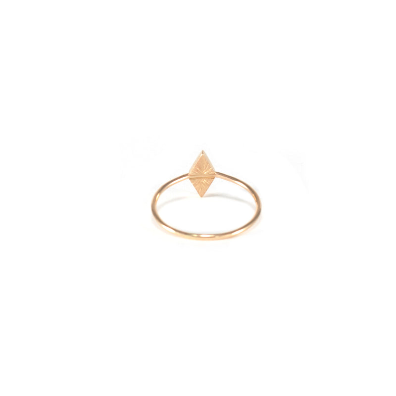 recycled 14k gold alternative engagement ring from MGG Studio handmade in California