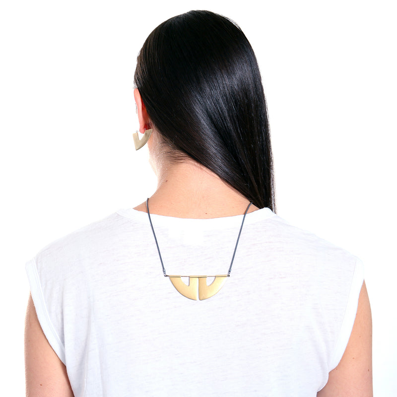 modern geometric statement necklace from MGG Studio handmade in California
