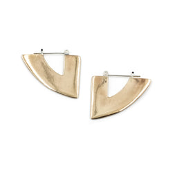 Triangle statement hoop earrings from MGG Studio