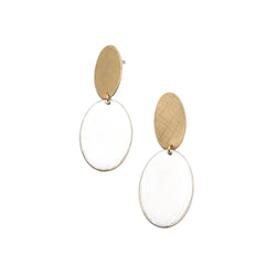 IDIS double oval earring with resin accent