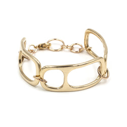 sculptural MOURA statement link bracelet in bronze and gold fill from MGG Studio