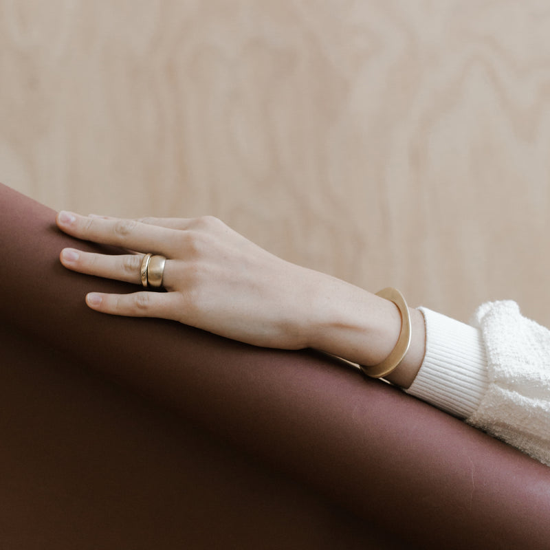 handmade bronze stacking rings from MGG Studio