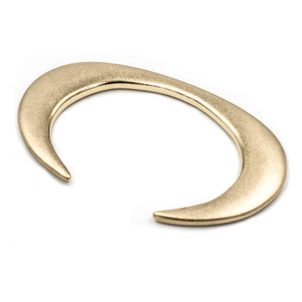 Handmade curved and tapered cuff in matte bronze from MGG Studio