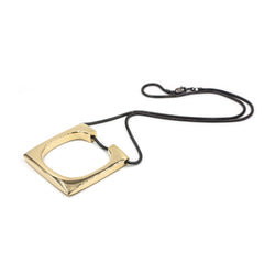 mixed metal square statement necklace from MGG Studio