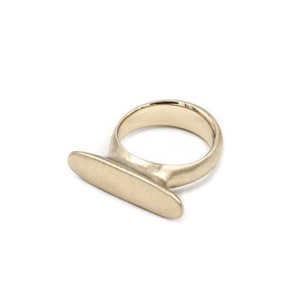 handmade matte bronze statement ring from MGG Studio