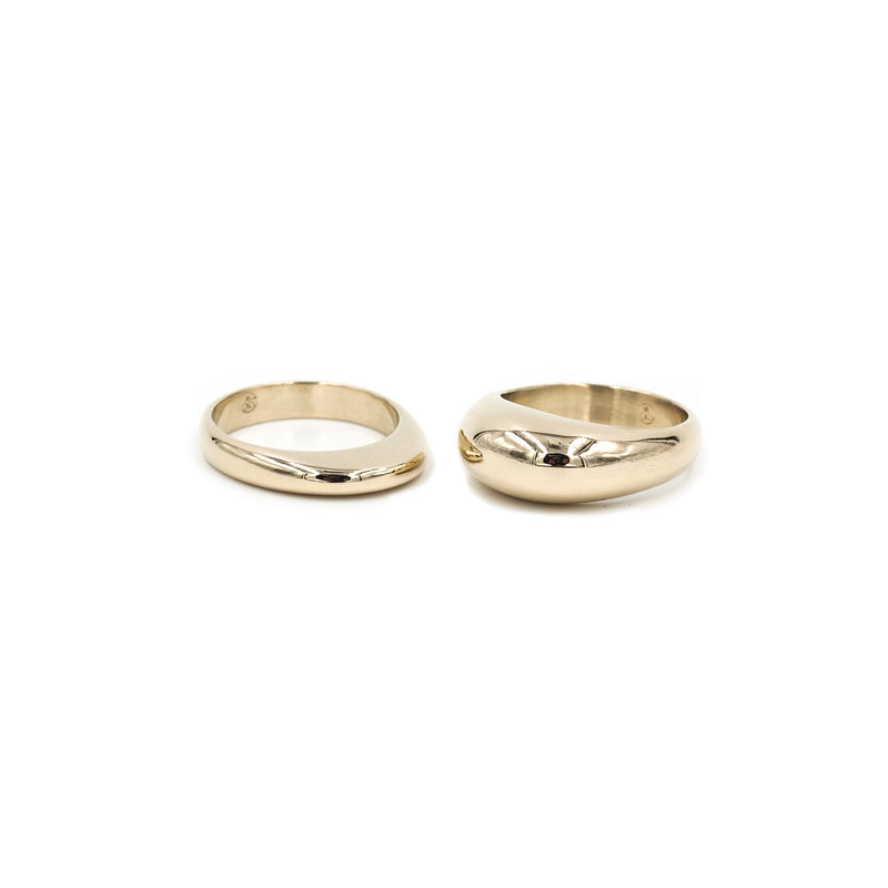 PIRO and PILI bronze stacking rings from MGG Studio