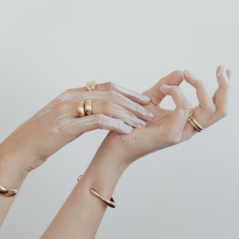 PIRO and PILI stacking rings on model from MGG Studio