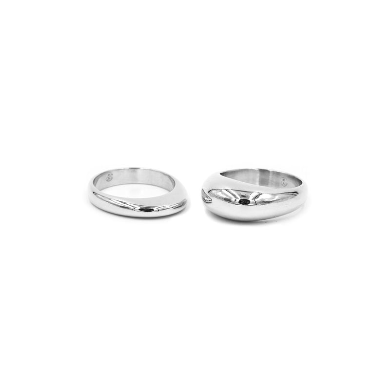PIRO and PILI silver stacking rings from MGG Studio