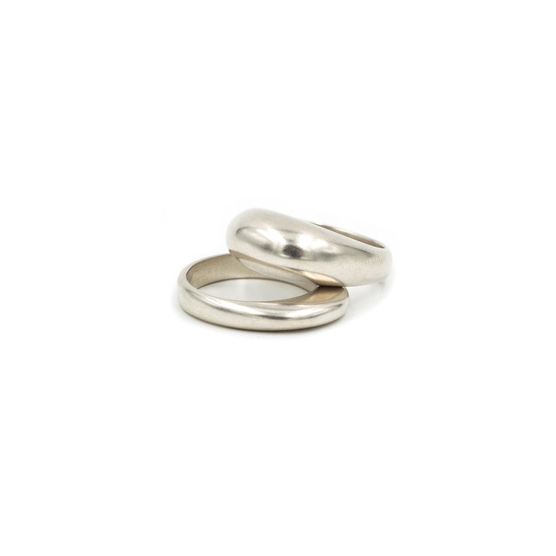 PIRO and PILI stacking bubble rings in silver from MGG Studio