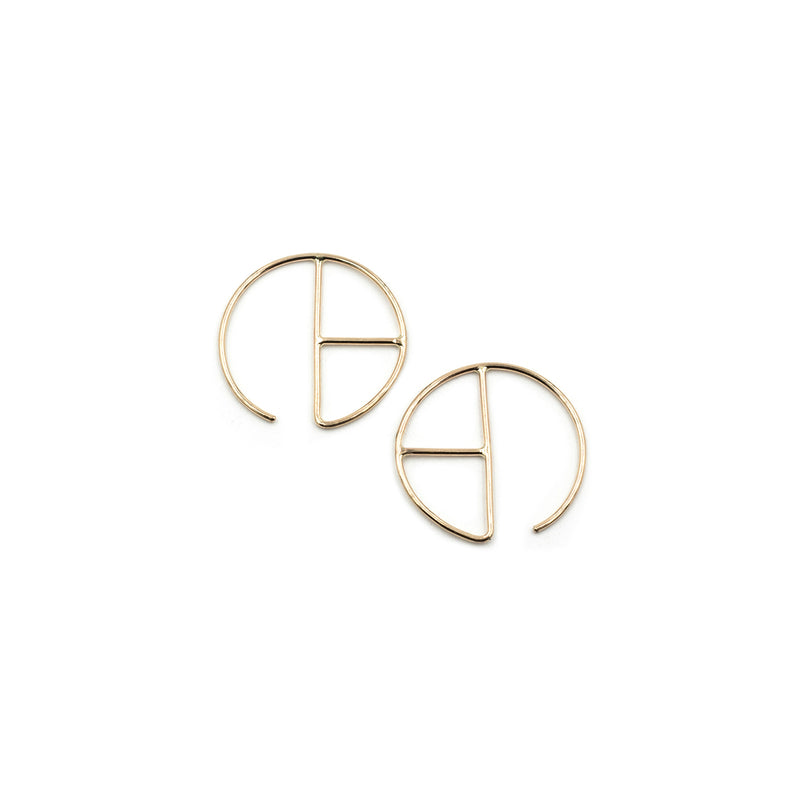 RADA 14k gold ear hugs