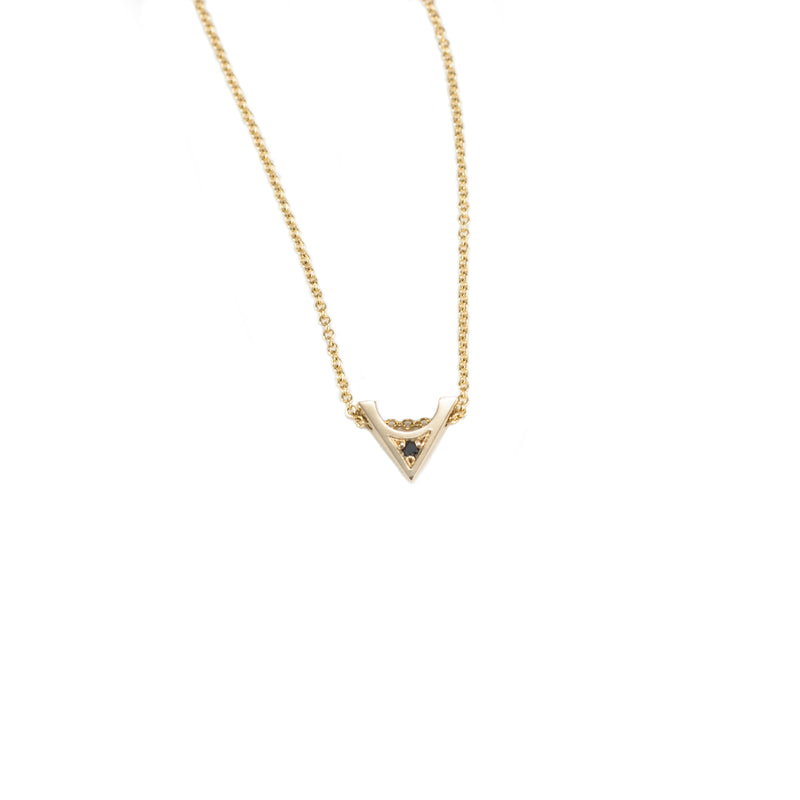 14K gold and black diamond STELLA necklace from MGG Studio