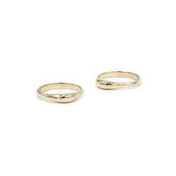 high polish bronze slim TAVIRA stacking rings from MGG Studio