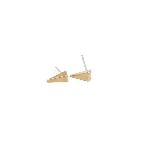 TESSON triangle post earrings