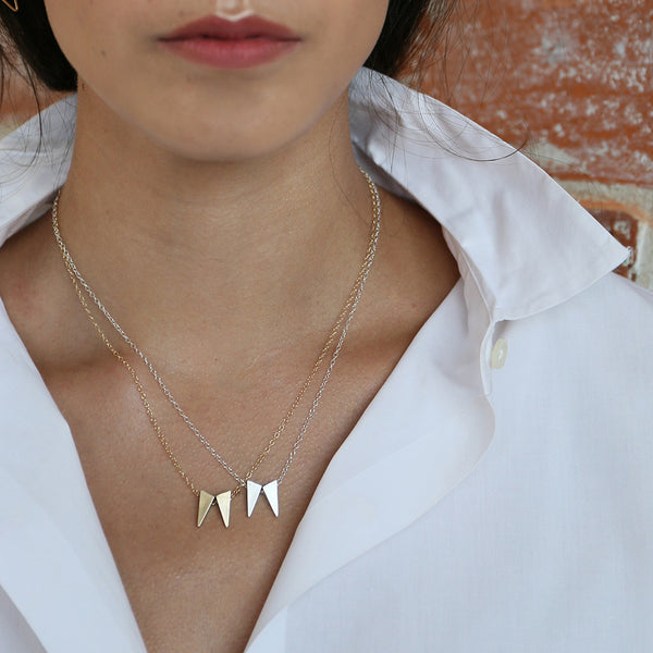 TESSON necklaces from MGG Studio on model