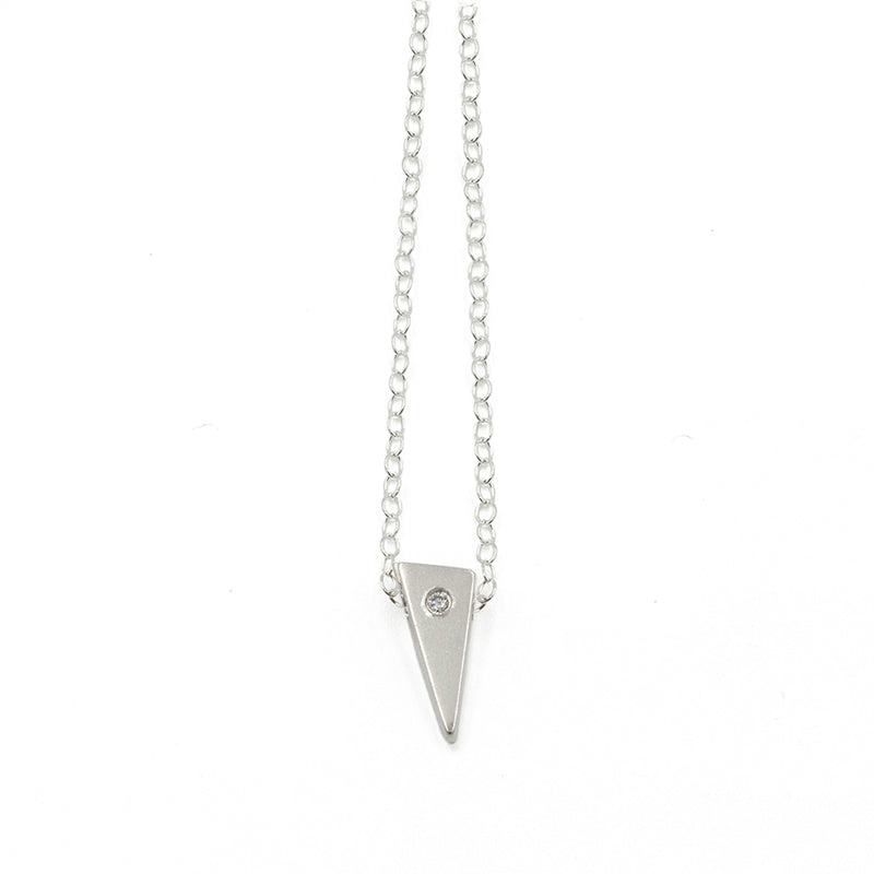 TESSON single necklace with diamond