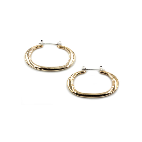 THEA oval hoop earrings