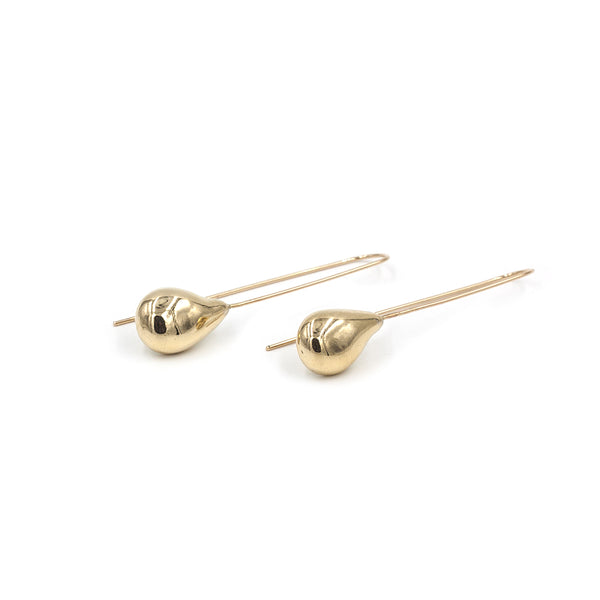 dramatic teardrop TIRSO long earrings in bronze from MGG Studio
