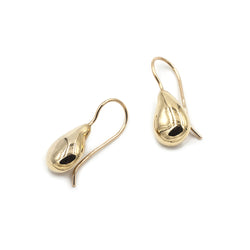 curvy teardrop TIRSO short drop earrings in bronze from MGG Studio